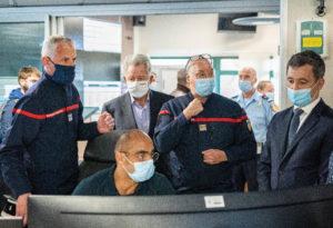 pompiers13-acutalités-Gérald Darmanin, ministre de l'Intérieur, en visite chez les Pompiers13