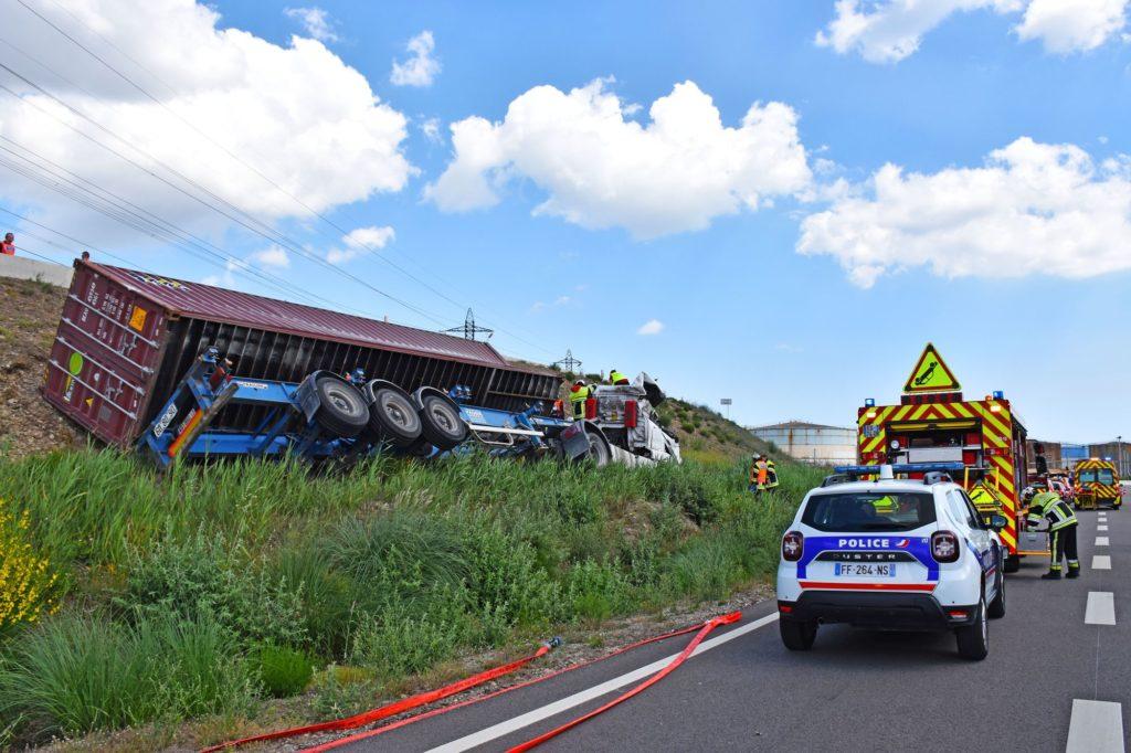 pompiers13-actualités-Longue opération de désincarcération sur la commune de Fos-sur-Mer